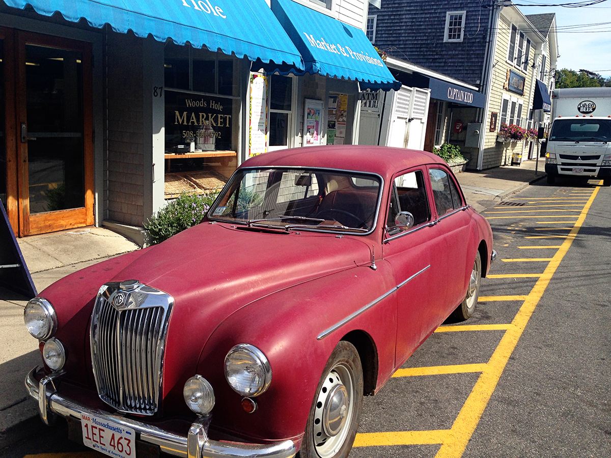 The Explorer's Edit | Vintage Car at Woods Hole, Cape Cod